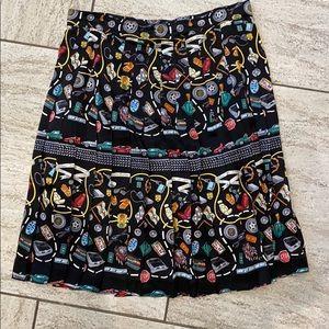 Vintage Nicole Miller pleated skirt (L)